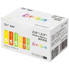 Батарейки алкалиновые Xiaomi ZMI Rainbow ZI5AA/ ZI7AAA (12+12 шт) (AL24)