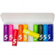 Набор пальчиковых батареек Xiaomi Rainbow 5 AA 10шт (NQD4000RT)